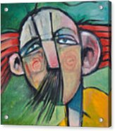 Mustached Man In Wind Acrylic Print
