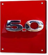 Mustang 5 0 Acrylic Print