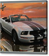Mustang And Mustang At The Beach Acrylic Print