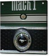 Mustang Mach 1 Emblem Acrylic Print