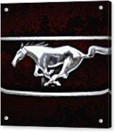 Mustang Pony Logo Acrylic Print
