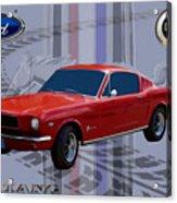 Mustang Poster Acrylic Print