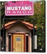 Mustang Ranch Entrance Acrylic Print