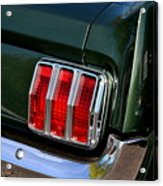 Mustang Tail Light Acrylic Print