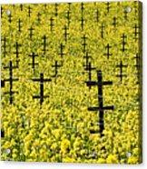 Mustard Color In The Vineyard  Napa Ca. Acrylic Print