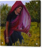 Mustard Fields Of India Acrylic Print