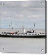 Mv Balmoral Leaves Penarth Pier Acrylic Print