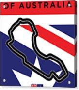 My 2017 Grand Prix Of Australia Minimal Poster Acrylic Print