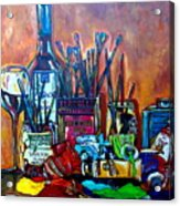 My Art Studio Acrylic Print