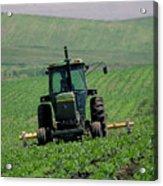 My Big Green Tractor Acrylic Print
