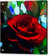 My Birthday Rose Acrylic Print