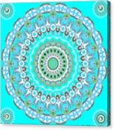 My Blue Heaven Mandala Acrylic Print