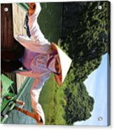My Boat Guide For The Tour.  Acrylic Print