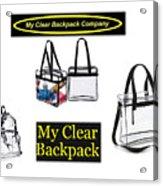My Clear Backpack Acrylic Print