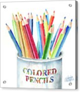 My Colored Pencils Acrylic Print