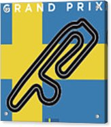 My F1 Anderstorp Race Track Minimal Poster Acrylic Print