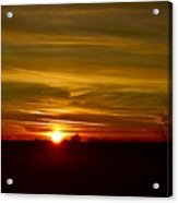 My First 2016 Sunset Photo Acrylic Print