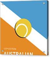 My Grand Slam 01 Australian Open 2017 Minimal Poster Acrylic Print