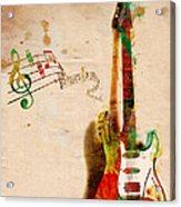 My Guitar Can Sing Acrylic Print