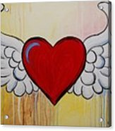My Heart Has Wings Acrylic Print
