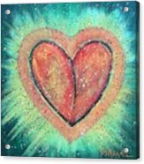 My Heart Loves You Acrylic Print