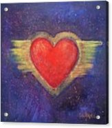 My Heart My Strength Acrylic Print