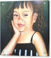 My Little Daughter Acrylic Print