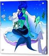 My Little Mermaid Acrylic Print by Lynn Rider