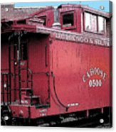 My Little Red Caboose Acrylic Print