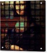 My Mona Lisa  Weave Series Acrylic Print by Teodoro De La Santa