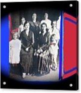 My Mother And Her Family Virginia Minnesota Circa 1919 Acrylic Print