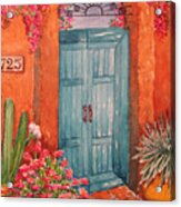 My Neighbors Blue Door  Acrylic Print