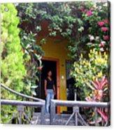 My Neighbors Yellow House Acrylic Print