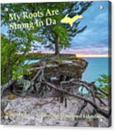 My Roots Are Strong Chapel Rock -6121 Pictured Rocks Michuigan Acrylic Print