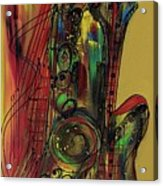 My Sax My Way Acrylic Print
