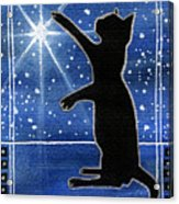 My Shinning Star - Christmas Cat Acrylic Print