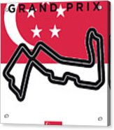 My Singapore Grand Prix Minimal Poster Acrylic Print