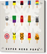 My Superhero Ice Pop - Univers Acrylic Print by Chungkong Art