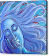 My Thoughts Fly Far Beyond Me Acrylic Print by Angela Treat Lyon