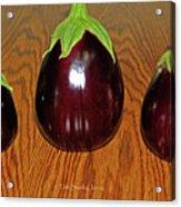 My Three Eggplant Fruits Acrylic Print
