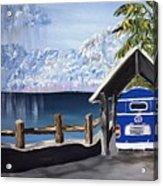 My Van In The Rain Acrylic Print by K J Gordon