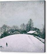 My Wintry Homey Snowy Planet Acrylic Print