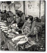 Myanmar Market Acrylic Print