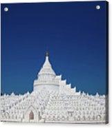 Myanmar. Mingun. The Hsinbyume Pagoda. Acrylic Print