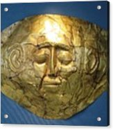 Mycenaean Gold Mask Acrylic Print