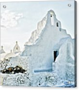Mykonos Church In White Acrylic Print