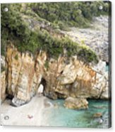 Mylopotamos Beach, Pelion, Greece Acrylic Print