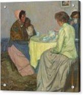 Myron G. Barlow 1873 - 1937 Dutch Women Drinking Coffee Acrylic Print