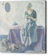 Myron G. Barlow 1873 - 1937 Peasant Sewing Acrylic Print