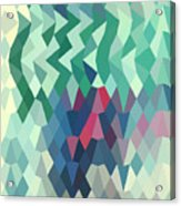 Myrtle Green Abstract Low Polygon Background Acrylic Print